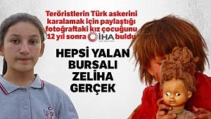 Teröristlerin Türk askerini karalamak için paylaştığı fotoğraftaki kız çocuğunu 12 yıl sonra İHA buldu
