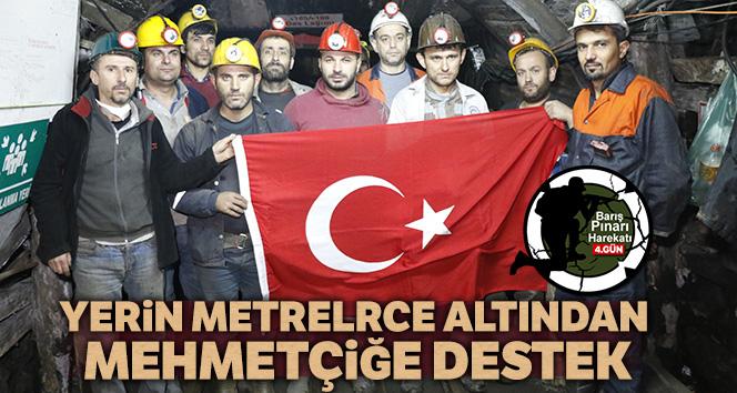 Yerin metrelerce altından Mehmetçiğe destek
