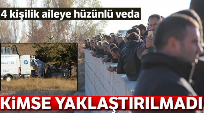 Antalya'da evinde ölü bulunan ailenin cenazeleri Erzurum'da toprağa verildi