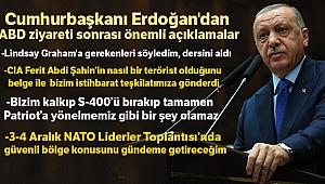 Cumhurbaşkanı Erdoğan'dan ABD ziyareti sonrası önemli açıklamalar