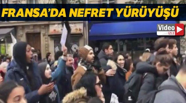 Fransa'da on binlerce kişi İslam nefretine karşı yürüyüş yaptı