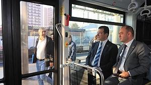 İmamoğlu,yerli metrobüsü test etti