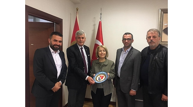 İzmir Bosna Sancak Derneğinden, Karadağ Türk Büyükelçisine Ziyaret