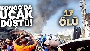 Kongo Demokratik Cumhuriyeti'nde uçak düştü: 17 ölü