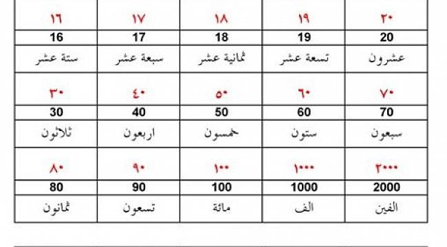 Sayıların Arapçadaki Konumu ve Gizemi – 2