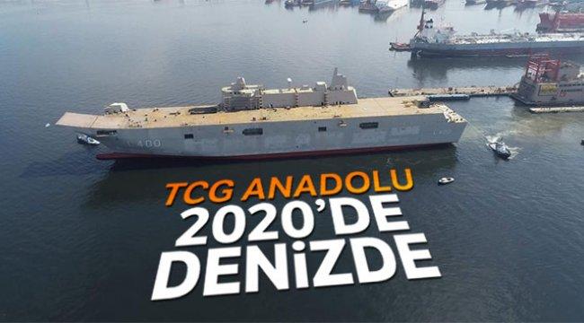 'TCG Anadolu 2020 sonunda hizmete girecek'