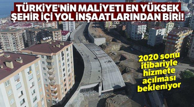 Türkiye'nin maliyeti en yüksek şehir içi yol inşaatlarından biri!