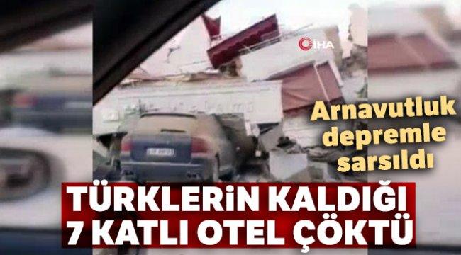 Türklerin kurtarıldığı çöken otel görüntülendi