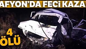 Afyonkarahisar'da feci kaza: 4 ölü!