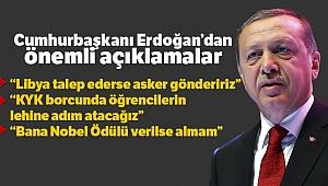Cumhurbaşkanı Erdoğan: 'Libya talep ederse asker göndeririz'