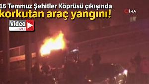 İstanbul'da köprü çıkışında yangın