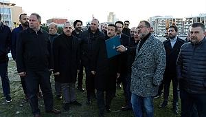 AK Partili Dağ'dan spor altyapı tesisi yapılması planlanan arazide inceleme