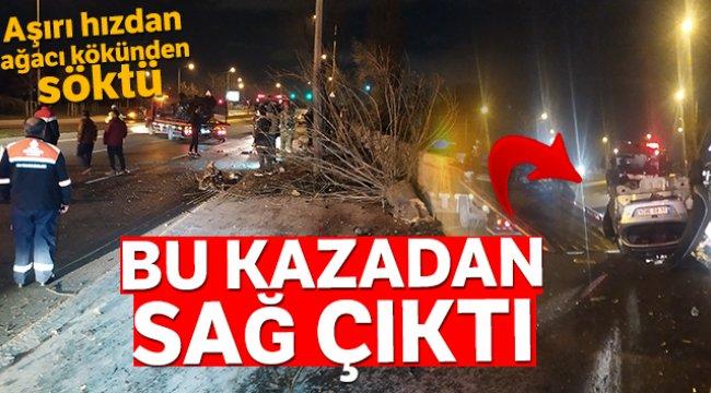 Bakırköy'de ortalığı savaş alanına çeviren kazadan sağ çıktı