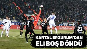 Beşiktaş, Erzurum'dan eli boş döndü
