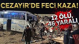 Cezayir'de yolcu otobüsleri çarpıştı: 12 ölü, 46 yaralı