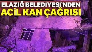 Elazığ Belediyesi'nden acil kan çağrısı