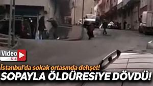 Gaziosmanpaşa'da sokak ortasında dehşet: Kadını sopayla dövdü