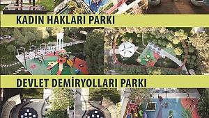 Karabağlar'da yenilenen 3 parkın açılışı aynı anda yapılacak