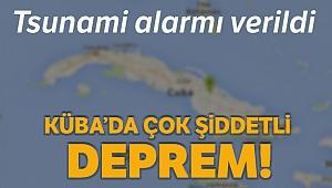 Küba açıklarında 7.7 büyüklüğünde deprem: Tsunami alarmı verildi