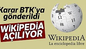 Wikipedia'nın açılmasına yönelik karar BTK'ya gönderildi