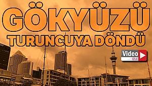 Yeni Zelanda'da gökyüzü turuncuya döndü