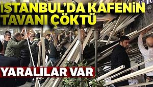Zincirlikuyu'da bir kafenin çatısı çöktü: Yaralılar var