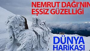 Dünya harikası Nemrut Dağı'nın eşsiz güzelliği havadan görüntülendi