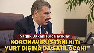 Sağlık Bakanı Koca'dan 'korona virüsü tanı kiti' açıklaması