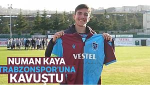 Trabzonspor'un otobüsünü saatlerce bekleyen Numan futbolcularla buluştu