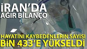 İran'da Korona virüsünden ölenlerin sayısı bin 433'e yükseldi