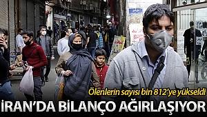 İran'da korona virüsünden ölenlerin sayısı bin 812'ye yükseldi