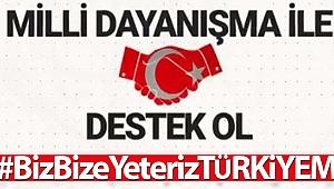 Milli Dayanışma Kampanyası hesap numaraları #BizBizeYeterizTürkiyem