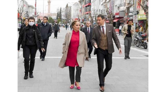 Uşak'ta işlek caddelerdeki yaya trafiği sınırlandırılacak