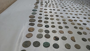 570 parça sikke ve madalyon ele geçirildi
