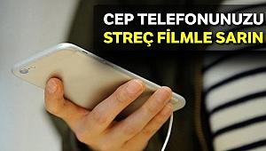 Cep telefonunu streç filmle sarın