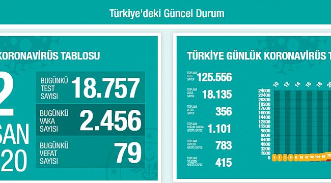 Türkiye'de Koronavirüsten Can Kaybı 356 Oldu