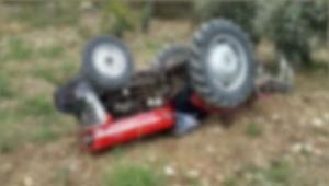 Aydın'da devrilen traktörün altında kalan sürücü öldü