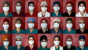 'Kovid savaşçıları'nın rengarenk boneleri hastalara moral veriyor