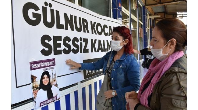Manisa'da bir grup, kadın cinayetlerini protesto etti
