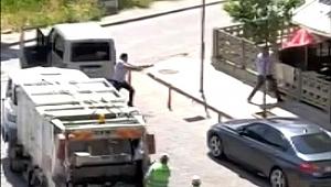 Salihli'de bir kişinin yaralandığı silahlı saldırı kameraya yansıdı