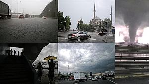 İstanbul'da sağanak, hortum ve sel meydana geldi