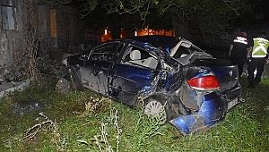 Manisa'da otomobil ağaca çarptı: 1 yaralı