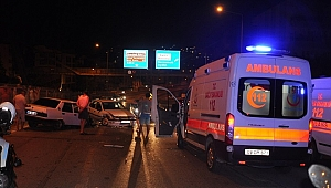 Aydın'da trafik kazası.2'si çocuk 4 kişi yaralandı