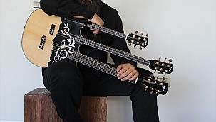 Gitar, buzuki ve curayı tek enstrümanda birleştirdi