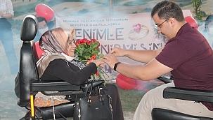 Manisa'da engelli çiftin aşkı sınır tanımadı