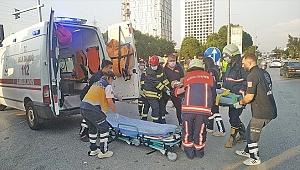 Manisa'da ters dönen otomobilin sürücüsü yaralandı