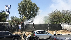 Marmaris'te konteyner yangını