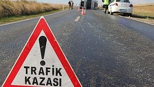 Uşak'ta minibüs devrilmesi sonucu 1 kişi öldü