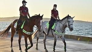 Atlı polisler Aliağa'da göreve başladı
