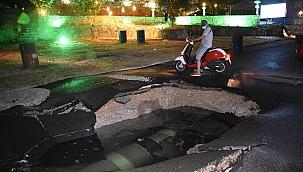 Bodrum'da içme suyu isale hattında patlama